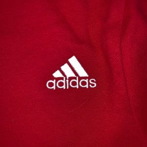 TAGS ON adidas red hoodie!